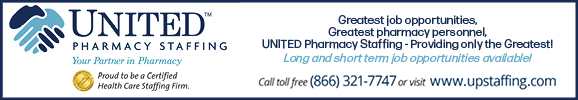 May 2021 - UNITED Pharmacy Staffing Premium Sponsor Ad